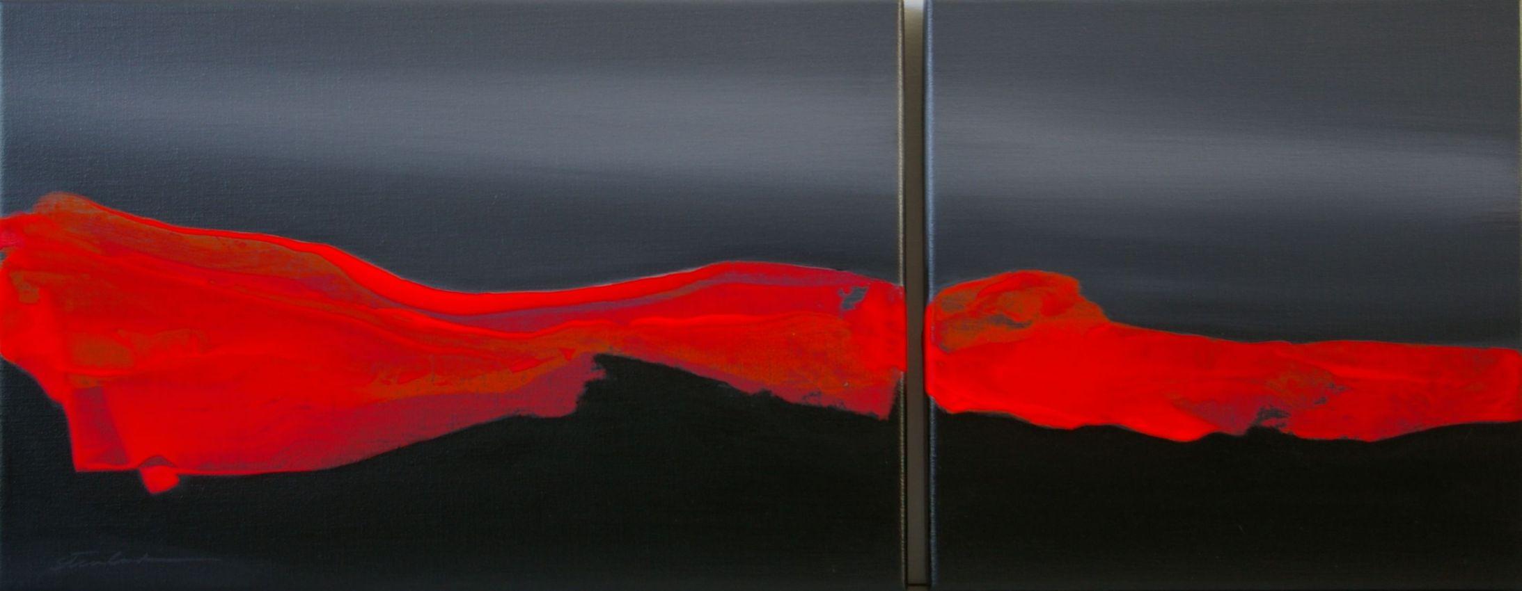 Aurora in Red, 28x72cm