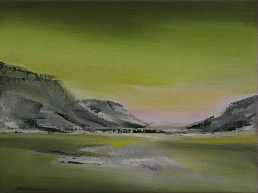 Waiting for the Northern Light, 30x40cm