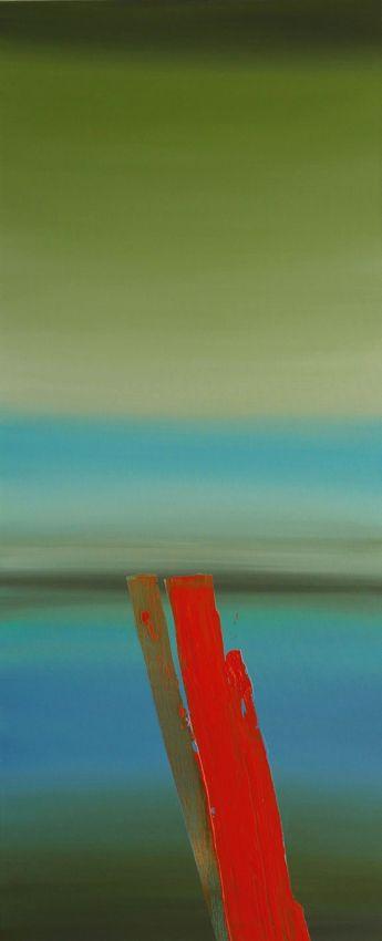 Red and HorizonII, 120x50cm