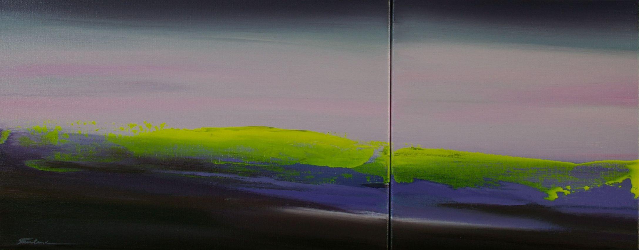 Light over Lake, 28x71cm