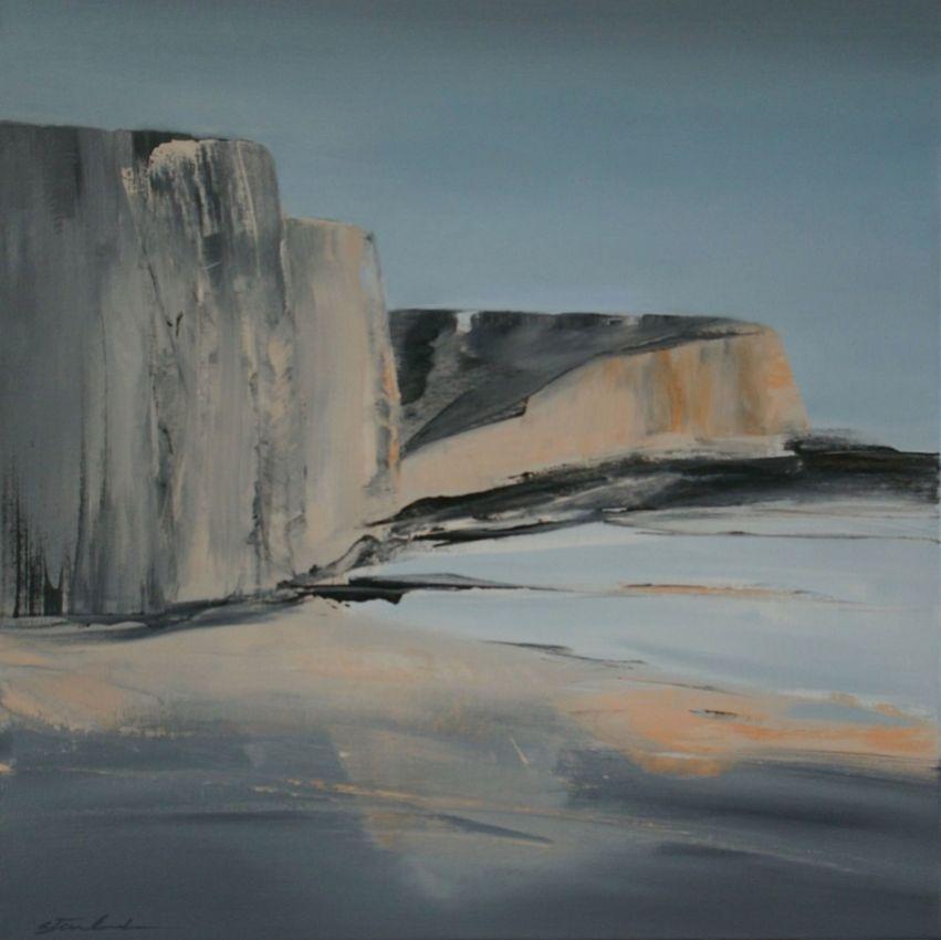 Normandy Coast, 80x80cm