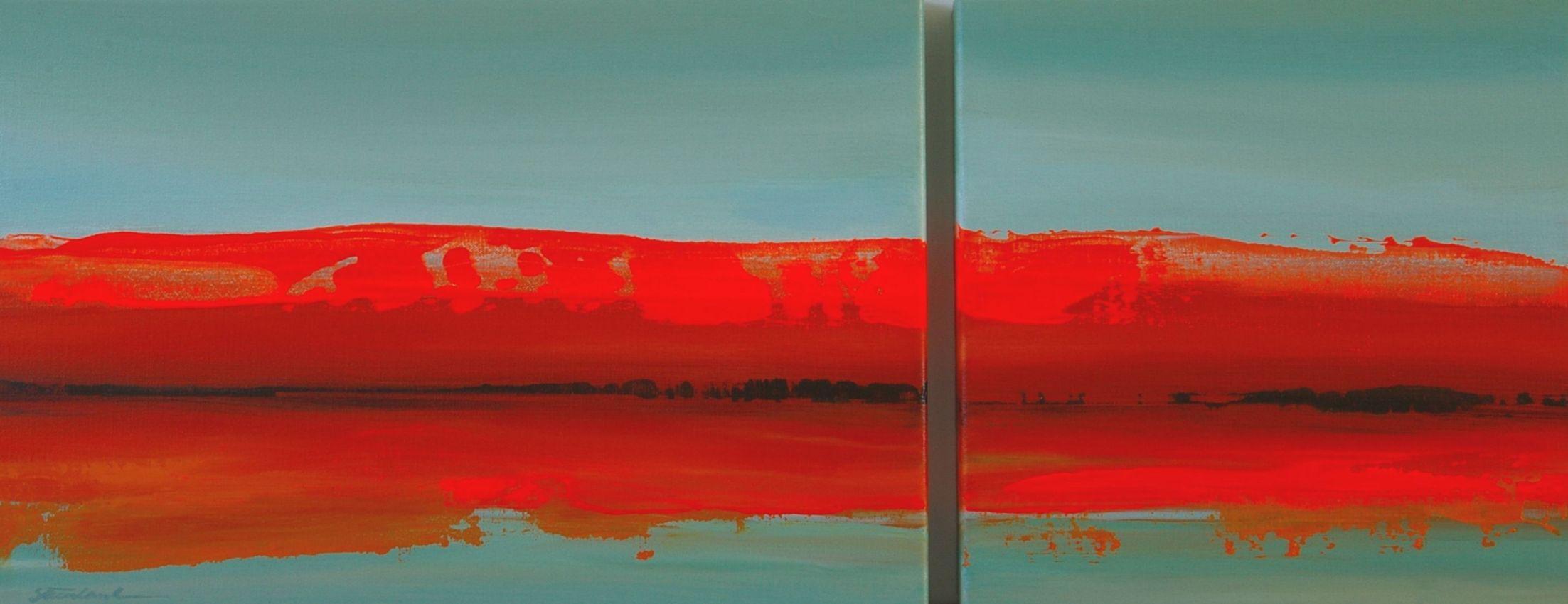 Orange Lake. 28x72cm