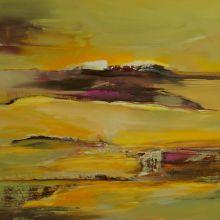 Autumn Horizon, 120x120cm