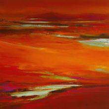 la Vie en Rouge, 100x100cm