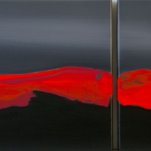Aurora in Red, 28x72cm