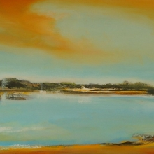 Northern Lake, 50x120cm